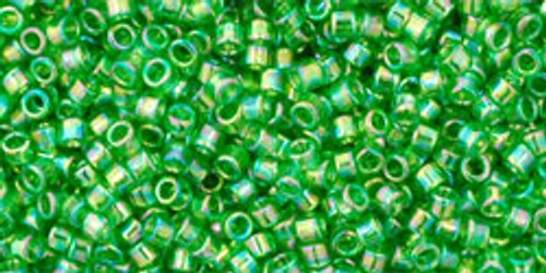 Toho Seed Beads #1 Treasure #167 Transparent Rainbow Peridot 10g
