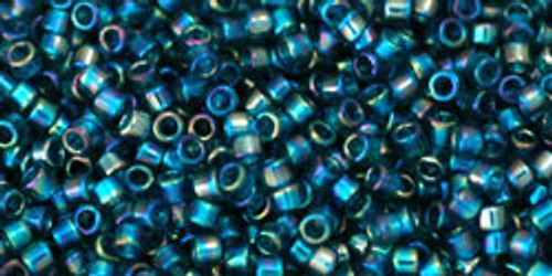 Toho Beads #1 Treasure #167BD Transparent Rainbow Teal 50 grams