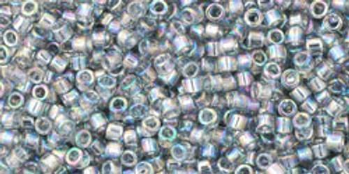 Toho Beads #1 Treasure #176 Transparent Rainbow Black Diamond 10 grams