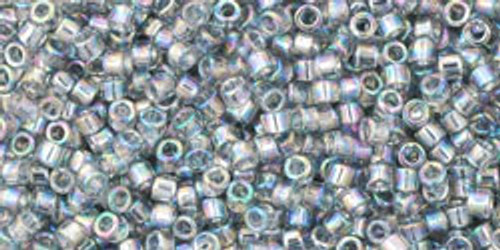 Toho Beads #1 Treasure #176 Transparent Rainbow Black Diamond 10 grams