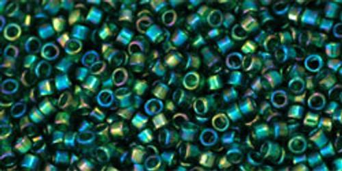 Toho Beads #1 Treasure #179 Transparent Rainbow Green Emerald 50g