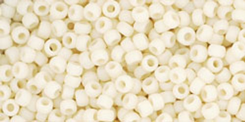 Toho Seed Beads 11/0 Rounds Opaque-Frosted Light Beige