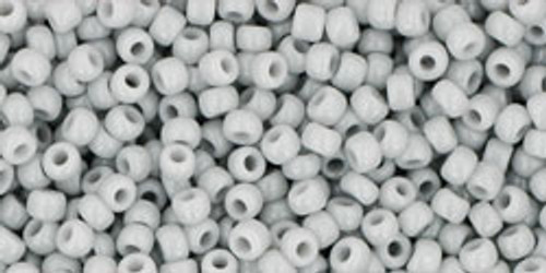 Toho Seed Beads 11/0 Rounds Opaque Gray