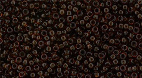 Toho Seed Beads 15/0 Round #941 Transparent Smoky Topaz 50 gram