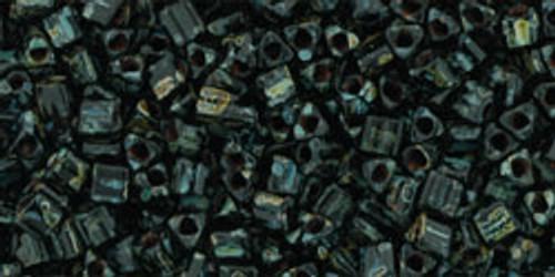 Toho Seed Beads 11/0 Triangle Hybrid Jet Picasso 8 gram tube
