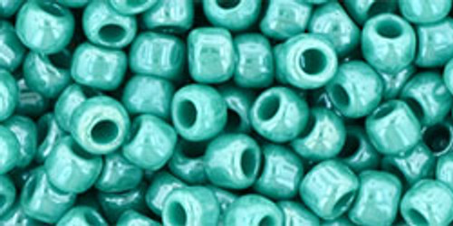 Toho Seed Beads 6/0 Round #72 Opaque Lustered Turquoise 20 gram