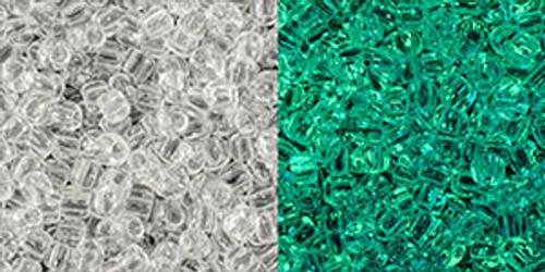 Toho Seed Beads 11/0 Round #403 Crystal Glow Green 50 grams