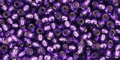 Toho Bulk Seed Beads 11/0 Rounds #245 Silver-Lined Purple 250 Grams