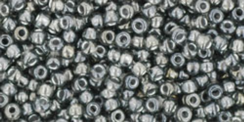 Toho Seed Beads 11/0 Round #406 In-Gray Gun Metal Lined 50 gram pack