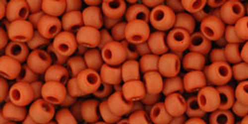 Toho Seed Beads 8/0 Round #187 Opaque Frosted Terra Cotta 50 gram