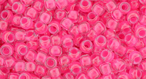 Toho Seed Beads 8/0 Round #191 Luminous Neon Pink 20 gram pack