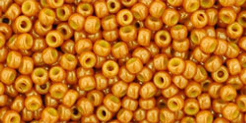 Toho Seed Bead 11/0 Rounds #302 Opaque-Lustered Tuscan Orange 20g