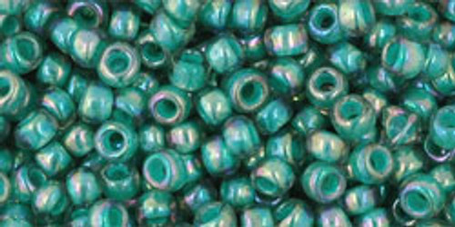 Toho Beads 8/0 Round #192 In 'Rainbow Light Sapphire Opaque Teal Lined' 20g