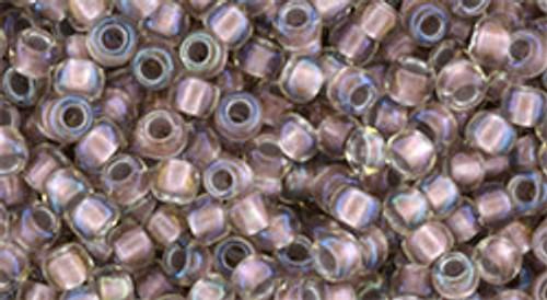 Toho Bulk Beads 8/0 Rounds #193 In Crystal Rose Gold Lined 250 gram pack