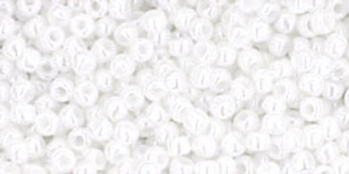 Toho Seed Beads 11/0 Rounds Opaque-Lustered White