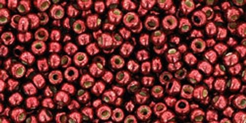 Toho Beads 8/0 Round #196 Permanent Finish Galvanized Brick Red 50 gram