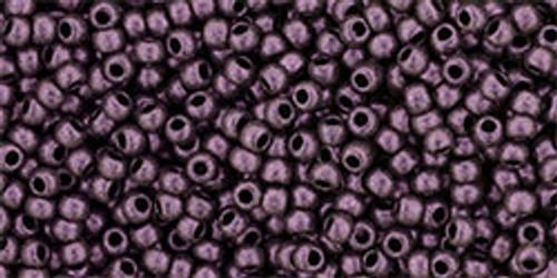 Toho Bulk Beads 11/0 Round #386  Hybrid Metallic Suede Pink 250 gram pack