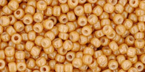 Toho Seed Beads 11/0 Rounds Opaque-Lustered Dark Beige