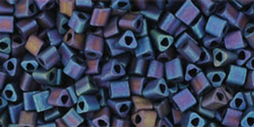 Toho Seed Beads 11/0 Triangle Frosted Metallic Nebula 8 Gram Tube