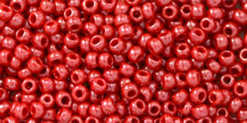Toho Seed Beads 11/0 Rounds Opaque-Lustered Cherry