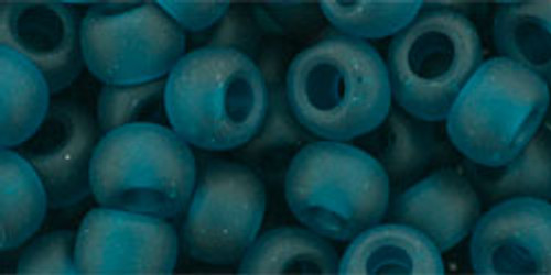Toho Seed Beads 3/0 Round Transparent Frosted Teal 8 gran tube