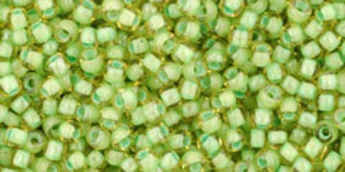 Toho Bulk Beads 11/0 Round #419 Jonquil Mint Julep Lined 250 gram