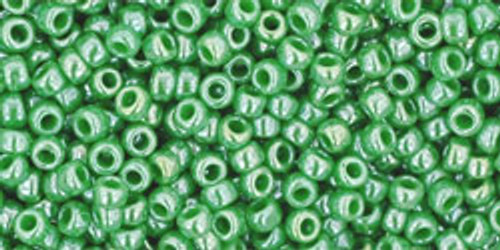 Toho Seed Beads 11/0 Rounds Opaque-Lustered Mint Green