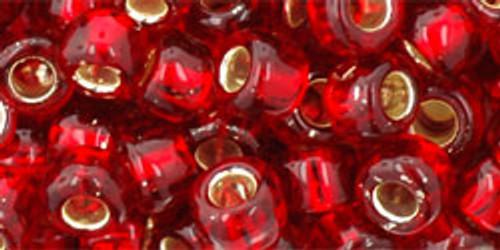 Toho Bulk Seed Beads 3/0 Round #25C Silver Lined Ruby 250 Gram Pack