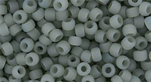 Toho Seed Beads 8/0 Round #210 Ceylon Frosted Smoke 20 Gram pack