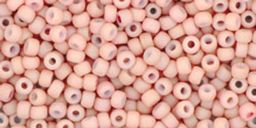 Toho Bulk Seed Beads 11/0 Round #422 Opaque Pastel Frosted Shrimp 250 gram pack TR-11-764