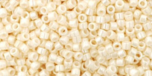 Toho seed Beads size 11/0 #1 Treasures Opaque Lustered Light Beige 50 gram TT-01- 123