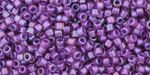 Toho Seed Beads #1 Treasures Rainbow Rosaline Opaque Purple' Lined 50g