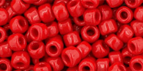 Toho Bulk Seed Beads 6/0 Round #4 'Opaque Pepper Red' 250 gram pack