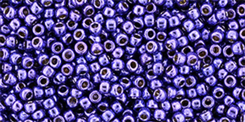 Toho seed Beads 11/0 Round #423 Perm Fin Galvanized Violet 250 grams