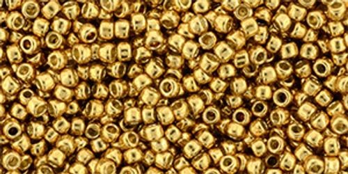 Toho Beads 11/0 Round #424 Permanent Finish Galvanized Old Gold 20 gram