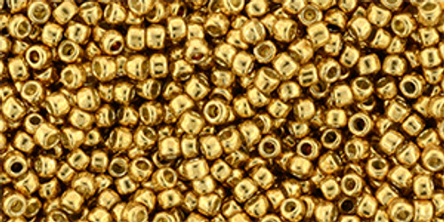 Toho Bulk Beads 11/0 round #424 Permanent Finish Galvanized Old Gold 250 grams
