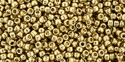 Toho Bulk Seed Beads  11/0 Rounds #425 Permanent Finish Galvanized Golden Fleece 250 gram