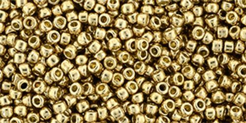 Toho Bulk Seed Beads  11/0 Rounds #425 Permanent Finish Galvanized Golden Fleece 250 gram