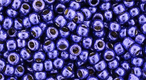 Toho Bead 8/0 Round #219 Perm Finish Galvanized Violet 20 grams TR-08-PF581
