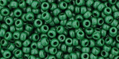 TOHO Seed Beads 11/0 Rounds #293 Opaque Pine Green 250 Grams