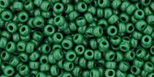 TOHO Seed Beads 11/0 Rounds #293 Opaque Pine Green 250 Grams