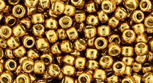 Toho bulk Beads 8/0 round #220 'Permanent Finish Galvanized Old Gold' 250 gram