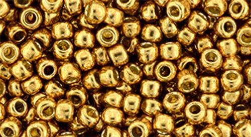 Toho bulk Beads 8/0 round #220 'Permanent Finish Galvanized Old Gold' 250 gram