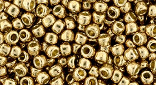 Toho Bead 8/0 #221 'Permanent Finish Galvanized Golden Fleece' 50 gram