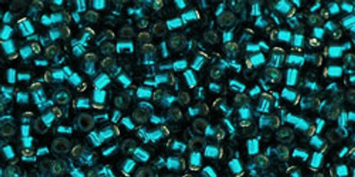 Toho Seed Beads #1 Treasures 11/0 Silver Lined Teal 50 gram