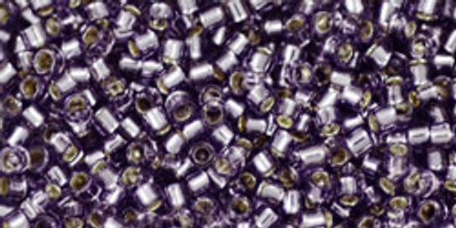 Toho Seed Beads #1 Treasures 11/0 Silver Lined Tanzanite 10 grams