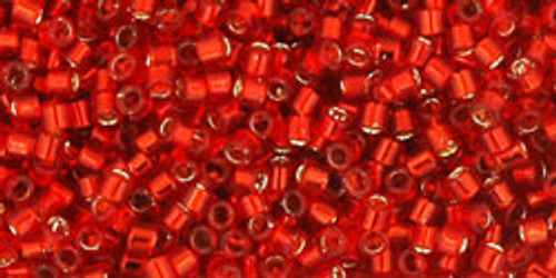 Toho Seed Beads #1 Treasures 11/0 Sliver Lined Siam Ruby 10 grams