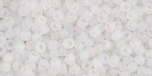 Toho Seed Beads 11/0 Rounds Transparent-Rainbow-Frosted Crystal