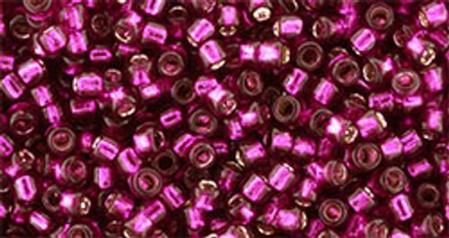 Toho Bulk Seed Beads 11/0 #426 Silver Lined Dragon Fruit 250 grams