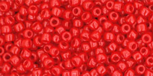Toho Seed Beads 11/0 #427 how very Opaque Cherry 50 grams